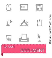 vetorial, jogo, documento, ícone