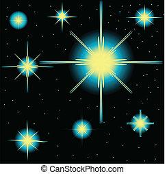 vetorial, jogo, estrelas