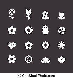 vetorial, jogo, flor
