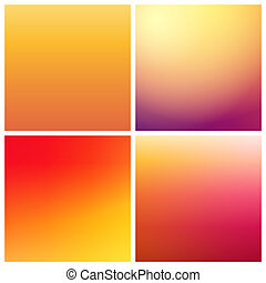 vetorial, jogo, gradiente, fundos, cores, morno