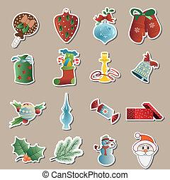 vetorial, jogo, natal, ícones