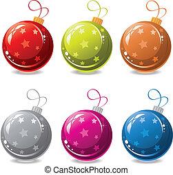 vetorial, jogo, natal, bolas