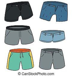 vetorial, jogo, shorts