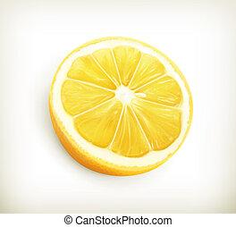vetorial, limão