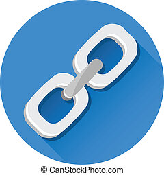 vetorial, link, ícone
