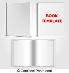 vetorial, livro, modelo