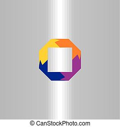vetorial, logotipo, abstratos, quadrado, negócio, elemento, símbolo, ícone