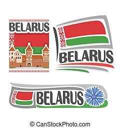 vetorial, logotipo, belarus