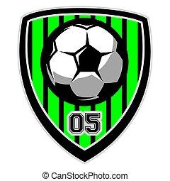 vetorial, logotipo, bola futebol, modelo