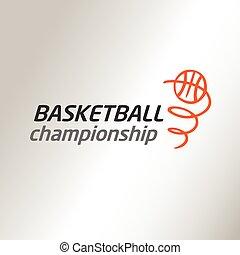 vetorial, logotipo, campeonato, basketball., modelo