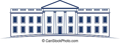 vetorial, logotipo, casa branca