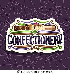 vetorial, logotipo, confectionery
