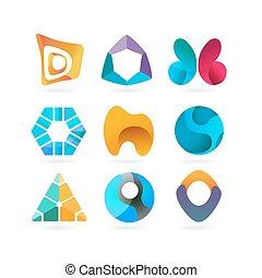 vetorial, logotipo, desenho, elements.