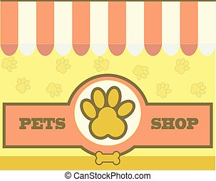 vetorial, logotipo, desenho, modelo, para, cuidado animal estimação, lojas