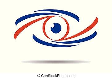 vetorial, logotipo, gráfico, olho