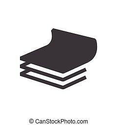 vetorial, logotipo, papel, ícone