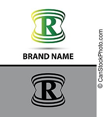 vetorial, logotipo, r, ícones