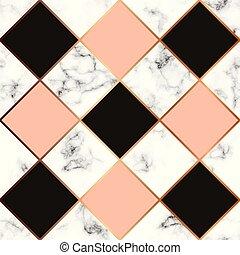 vetorial, mármore, textura, seamless, projeto teste padrão,...