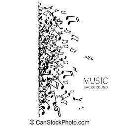 vetorial, música, fundo