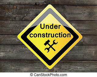 vetorial, madeira, construção, fundo, sob, ícone