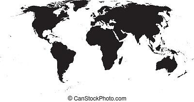 vetorial, mapa mundial