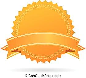 vetorial, medalha, ouro