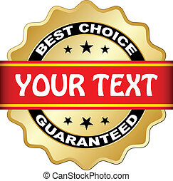 vetorial, melhor, escolha, guaranteed, etiqueta