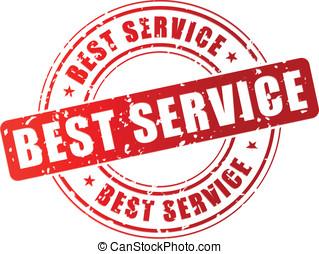 vetorial, melhor, serviço, selo