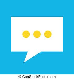 vetorial, mensagem, ícone