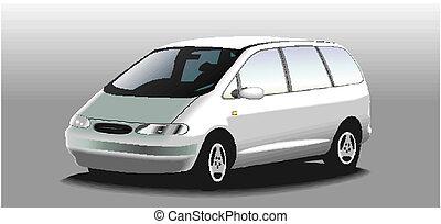 vetorial, minivan
