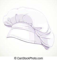 vetorial, modernos, branca, cozinheiro, ilustração, chapéu