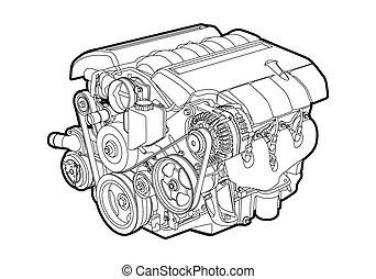 vetorial, motor