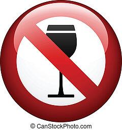 vetorial, não, álcool, marca