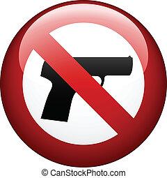 vetorial, não, arma, marca