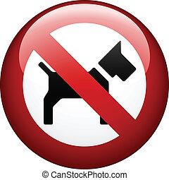 vetorial, não, cão, marca
