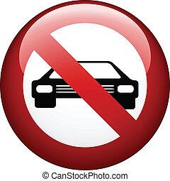 vetorial, não, car, marca