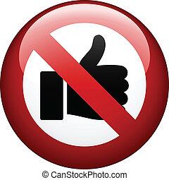 vetorial, não, gesto, marca