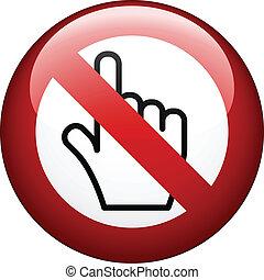 vetorial, não, toque, marca