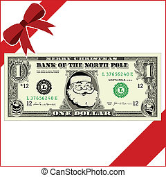 vetorial, natal, dinheiro