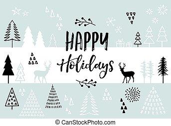 vetorial, natal, fundo, cartão