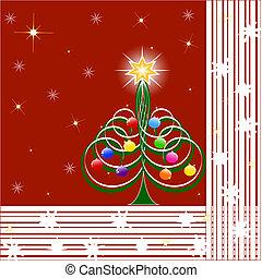 vetorial, natal, ilustração, árvore