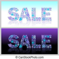 vetorial, -, natal, ilustração, venda