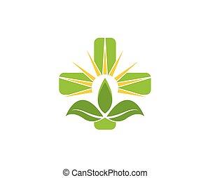 vetorial, natureza, saúde, logotipo