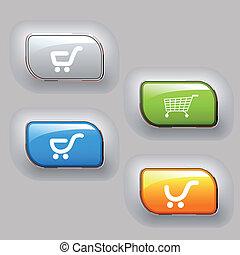 vetorial, negócio, botões