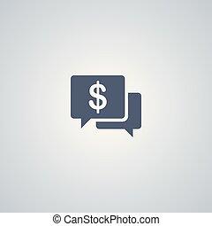 vetorial, negócio, conversa, ícone