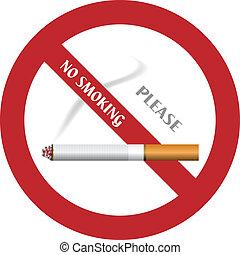 vetorial, nenhum fumando sinal