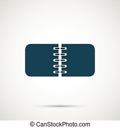 vetorial, notebok, isolado, branco, fundo