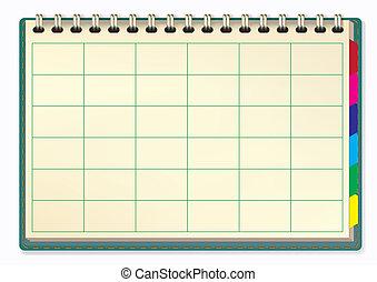 vetorial, notepad, ilustração