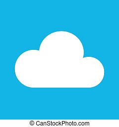 vetorial, nuvem, ícone