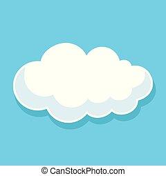 vetorial, nuvem, ilustração